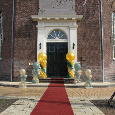 Ballonnendecoratie - Standaard ballonnenpilaar met clusters van 5 ballonnen