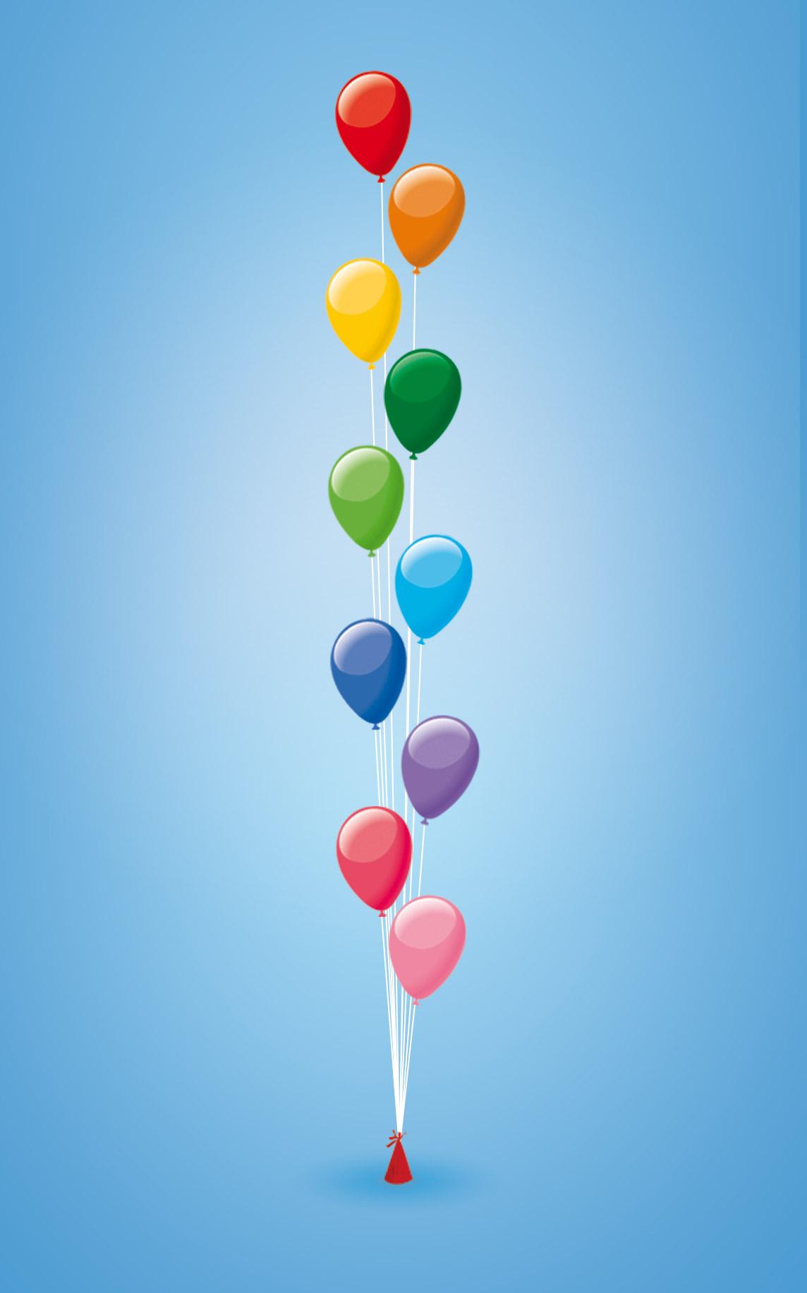Ballonnendecoratie - Ballonnenset van 10 heliumballonnen