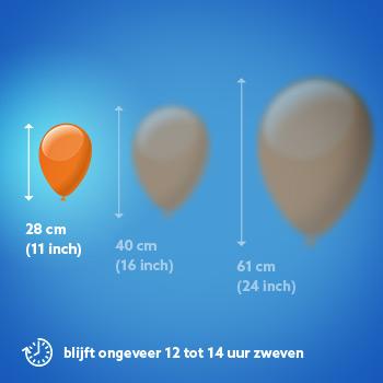 Een heliumballon van 11 inch