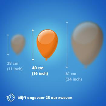 Ballon van 16 inch met helium gevuld
