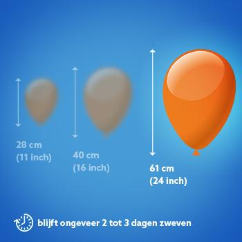Ballon met helium van 24 inch