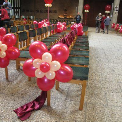 Ballonnendecoratie - Standaard ballonrozet gemaakt van 11 en 5 inch ballonnen