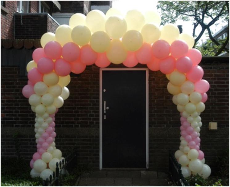 Ballondecoratie - Onze luxe ballonnenboog is opgebouwd uit vele verschillende maten ballonnen