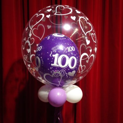 Ballondecoratie - Bubbleballon 100 jaar
