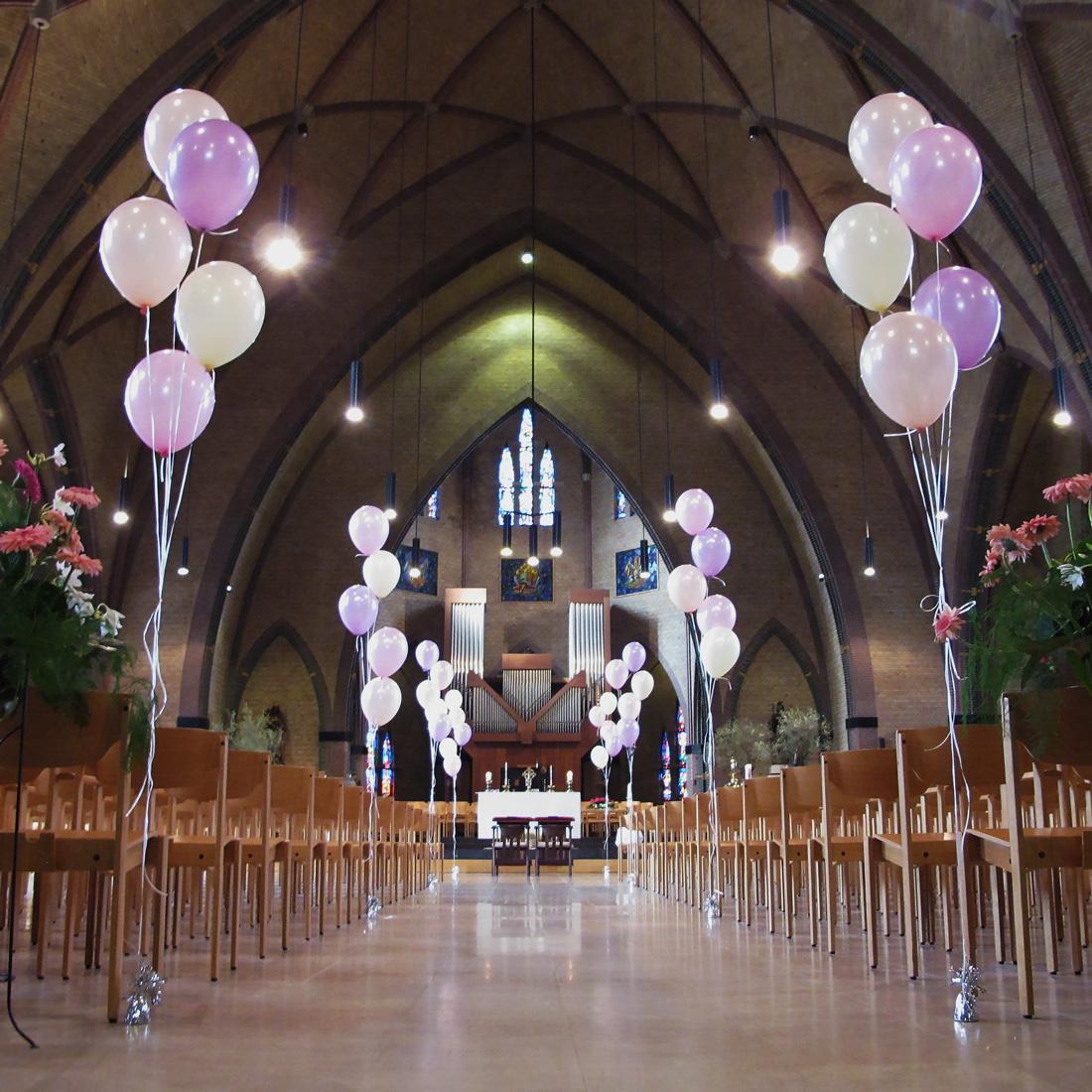 Ballondecoratie - Set van vijf heliumballonnen voor een bruiloft