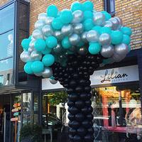 Ballonnendecoratie: boom van ballonnen