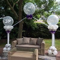 Kleed je bruiloft aan met ballonpilaren