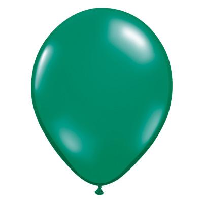 Transparante smaragd-groene jewel ballon