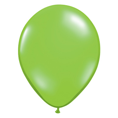 Transparante limegroene jewel ballon