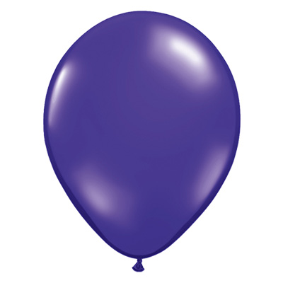 Transparante kwarts-paarse jewel ballon
