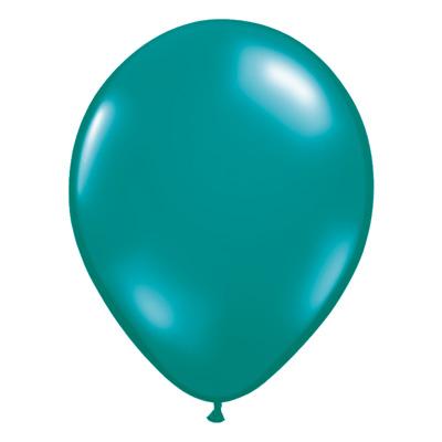 Transparante blauwgroene jewel ballon