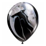 Zwart-witte marmerballon