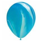 Blauwe marmerballon