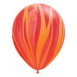 Rood-oranje marmerballon
