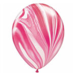 Rood-witte marmerballon