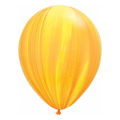 Geel-oranje marmerballon