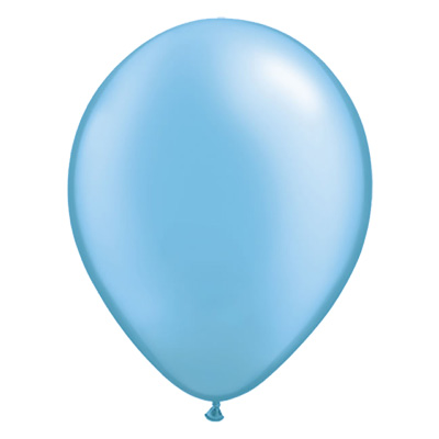 Metallic azuurblauwe ballon met parelmoerglans
