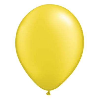 Metallic citroengele pearl ballon met parelmoerglans