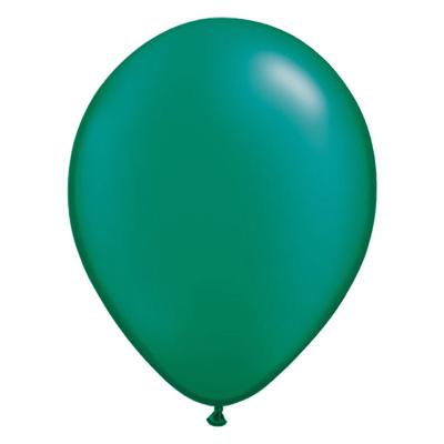 Metallic smaragdgroene ballon met parelmoerglans