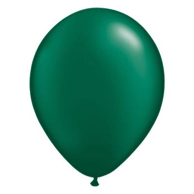 Metallic bosgroene ballon met parelmoerglans
