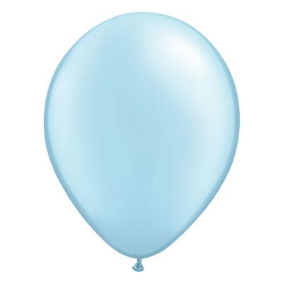 Metallic lichtblauwe ballon met parelmoerglans