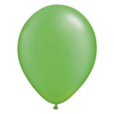Metallic limegroene ballon met parelmoerglans