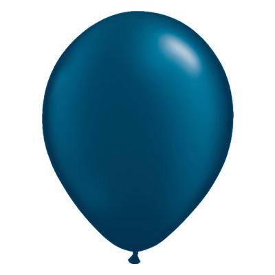 Metallic middernacht-donkerblauwe ballon met parelmoerglans