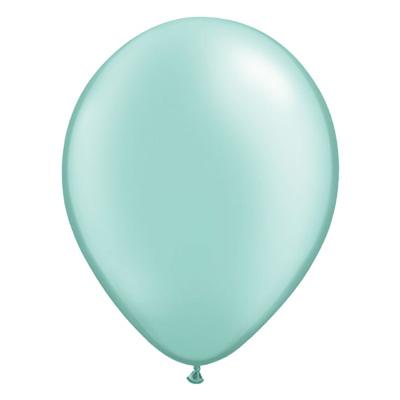 Metallic mintgroene ballon met parelmoerglans