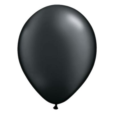 Metallic onyx zwarte ballon met parelmoerglans