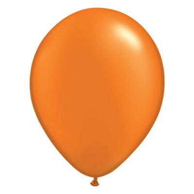 Metallic oranje pearl ballon met parelmoerglans