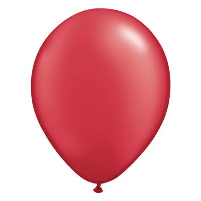 Metallic robijnrode ballon met parelmoerglans