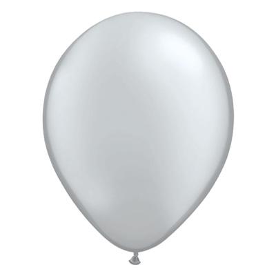 Metallic zilveren ballon met parelmoerglans