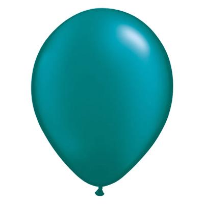 Metallic groenblauwe ballon met parelmoerglans