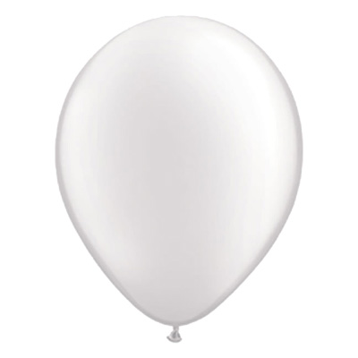 Metallic witte ballon met parelmoerglans