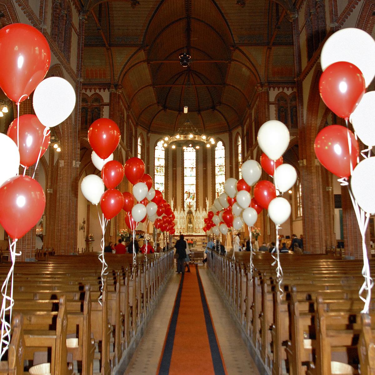 Ballondecoratie - Standaard set heliumballonnen bij huwelijk