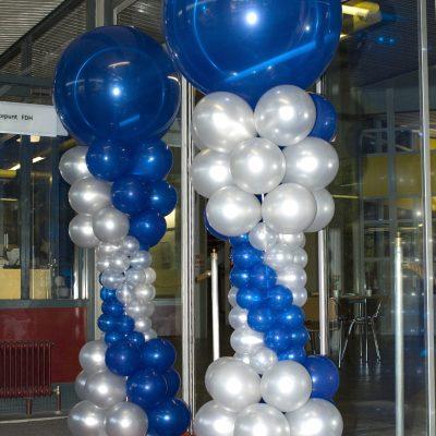 Ballondecoratie - Grote ballonnenpilaar